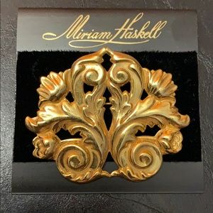 Miriam Haskell Floral Brooch Great for Mothers Day